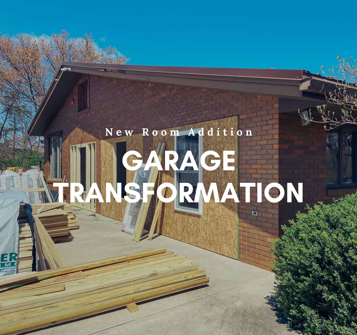 garage renovation single room addition